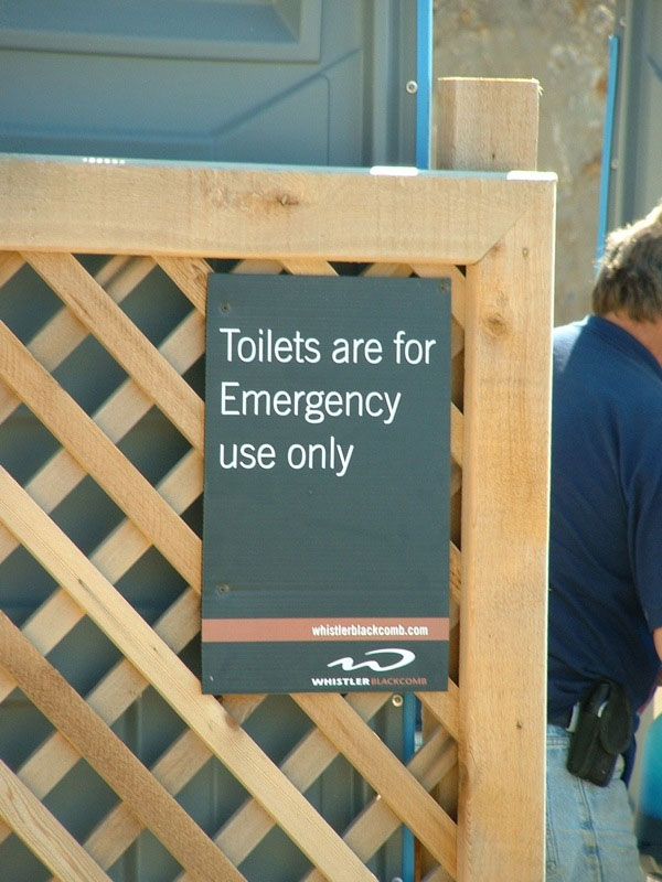 9. Not much people are using public toilets without emergency