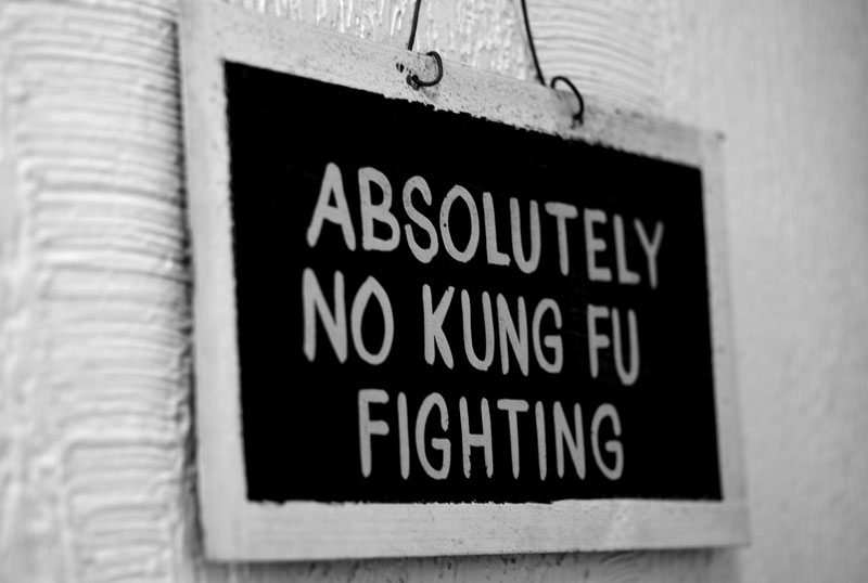 4. Absolutely no Kung-Fu fighting - the best example of toilet humor