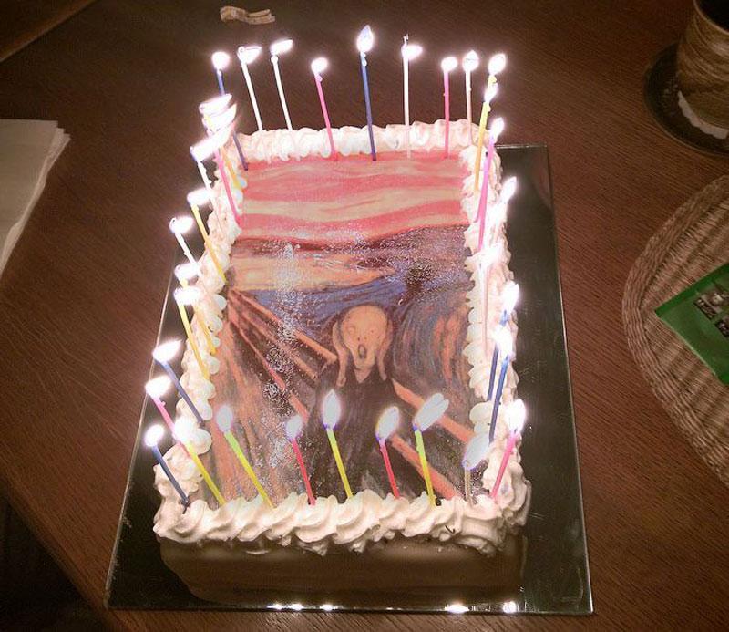 1. Munch's The Scream birthday cake