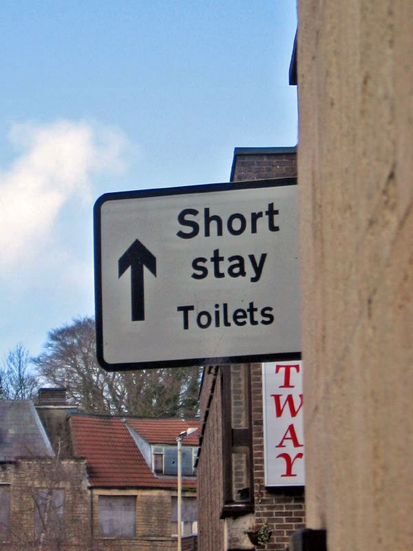 6. There surely should be long stay toilets nearby.