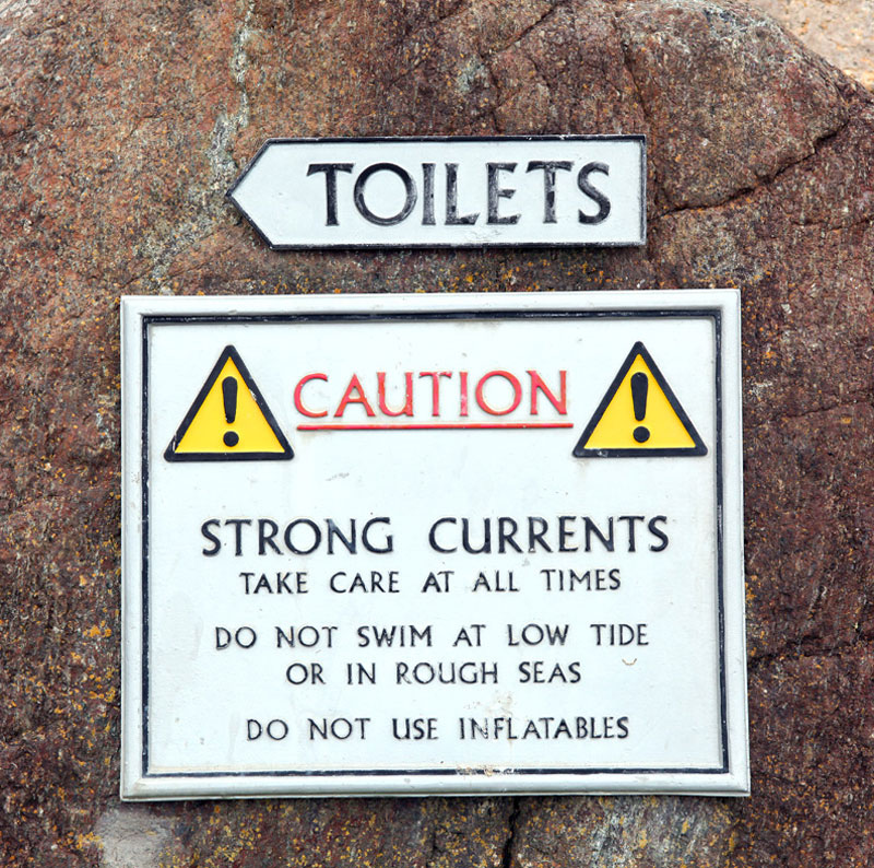 3. The toilet of strong currents in the Kynance Cove, Cornwall, UK