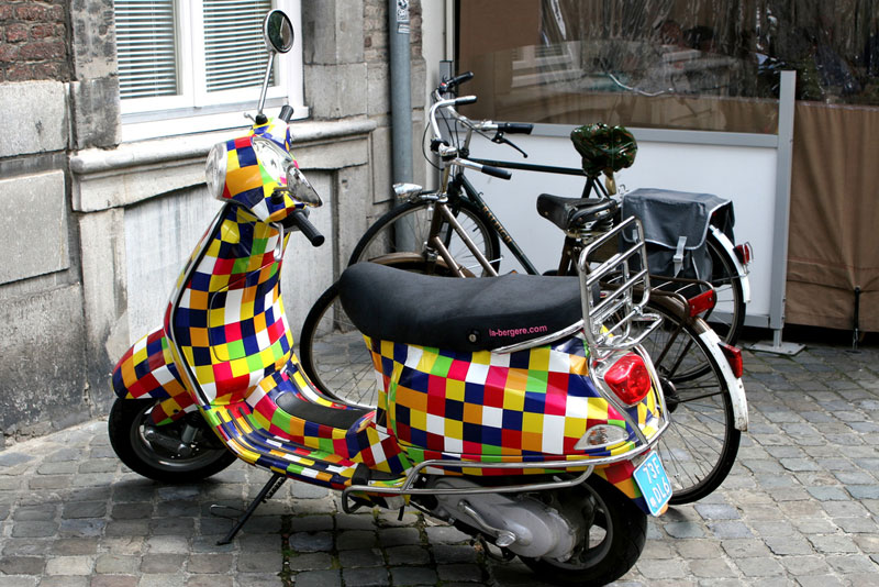5. Colourful Vespa from the Netherlands