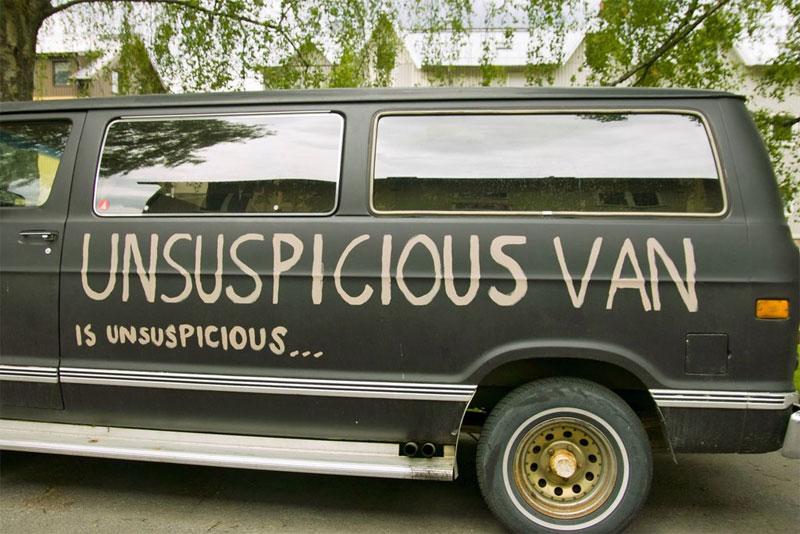 unsuspicious van is unsuspicious