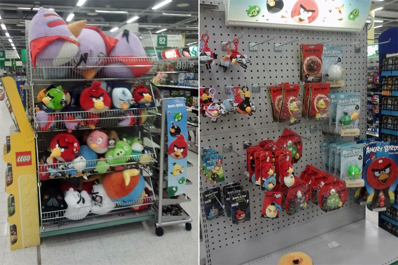 10. Angry Birds plushies and smaller toys