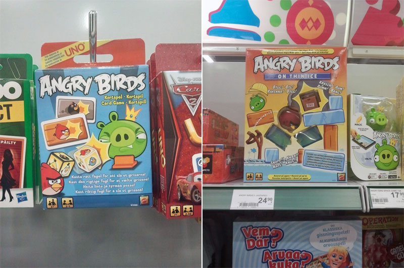 2. Angry Birds board games