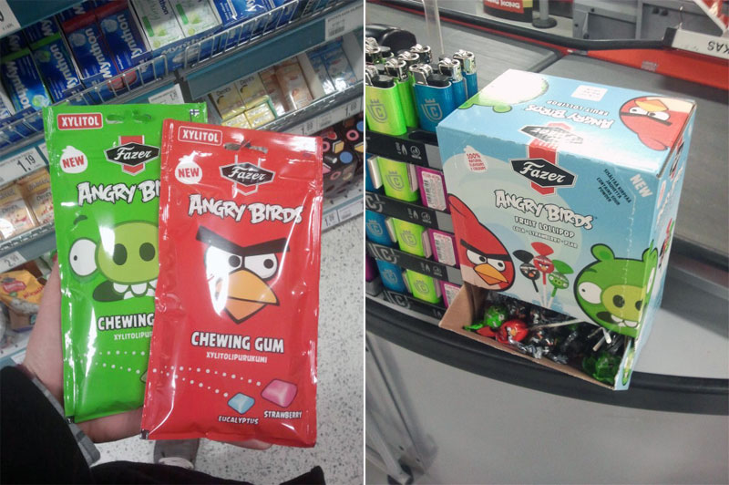 7. Angry Birds chewing gum and lollipops