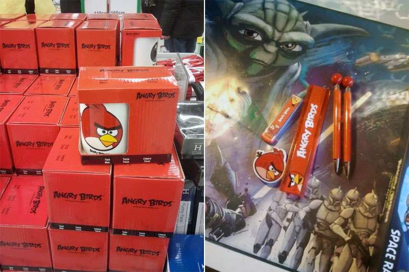 8. Angry Birds coffee mugs and school appliances
