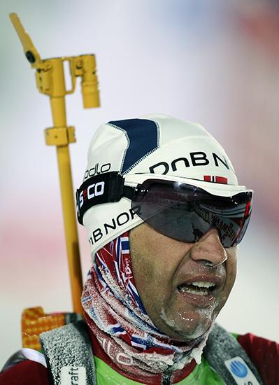 Frozen drool and snot in biathlon