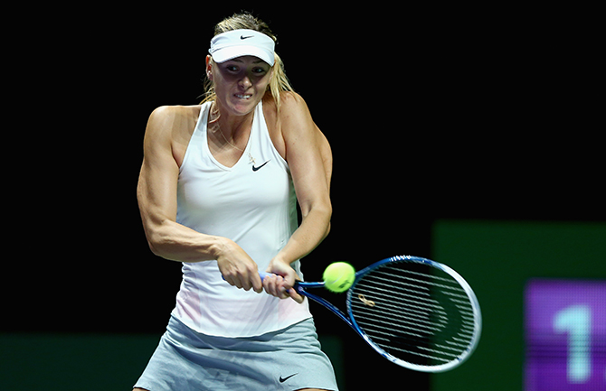 Tennis players hands during impact