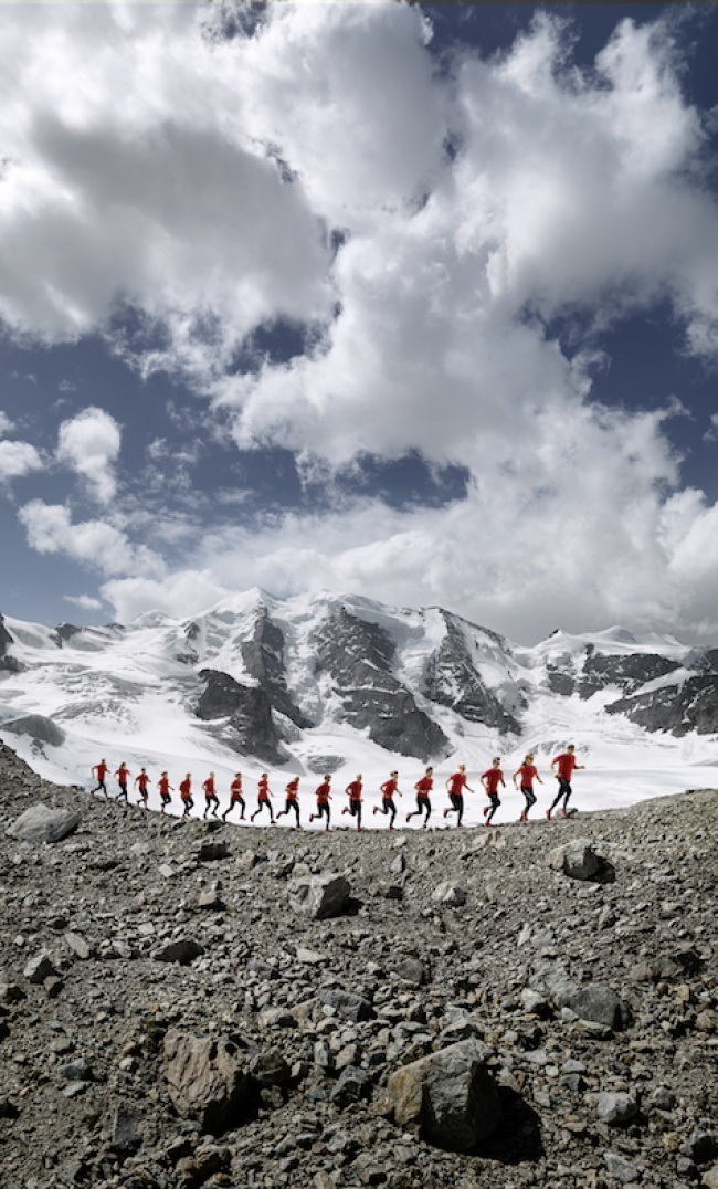 Advertising campaign on 4000 meters high