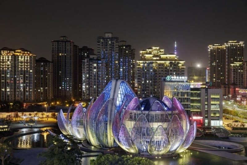 Luminous Lotus Building