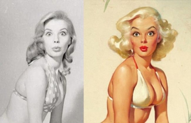 Real girls from Pin-Up posters