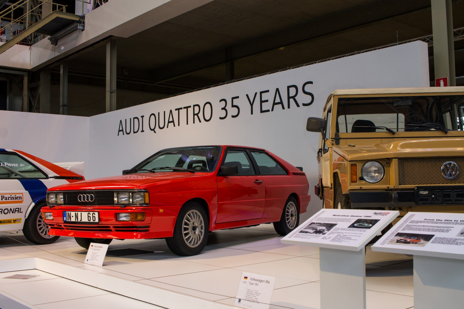 Audi Quattro exposition in the Autoworld Brussels