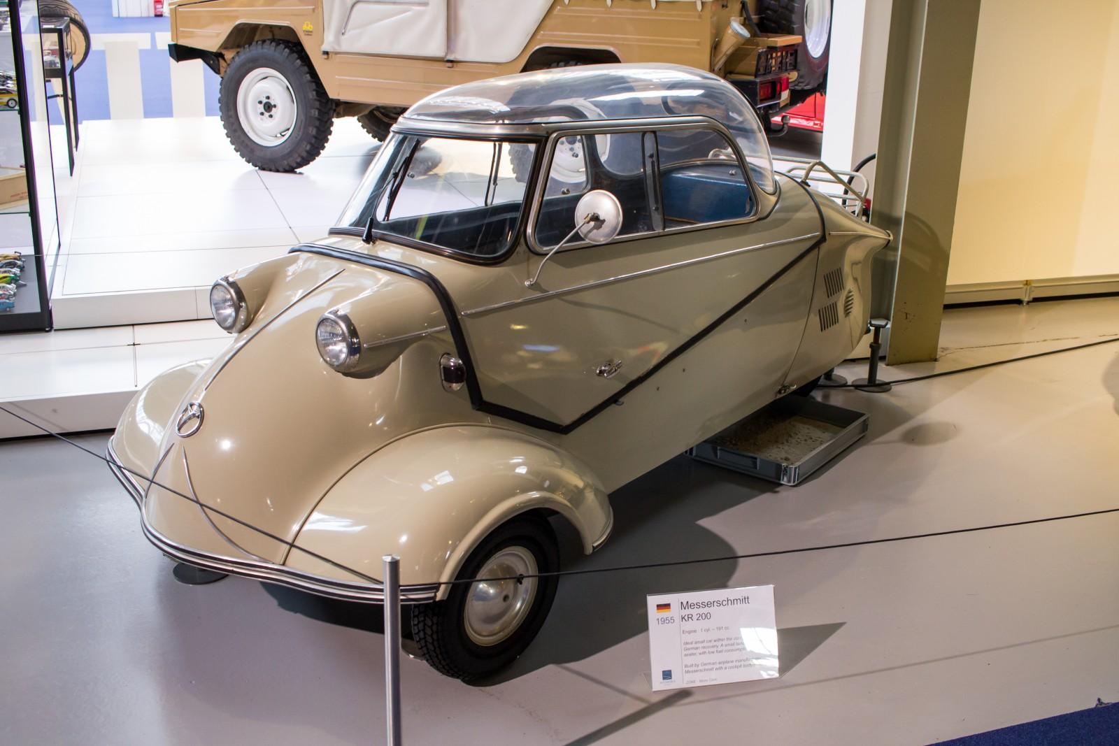 Messerschmitt KR200 on display in the Autoworld Brussels