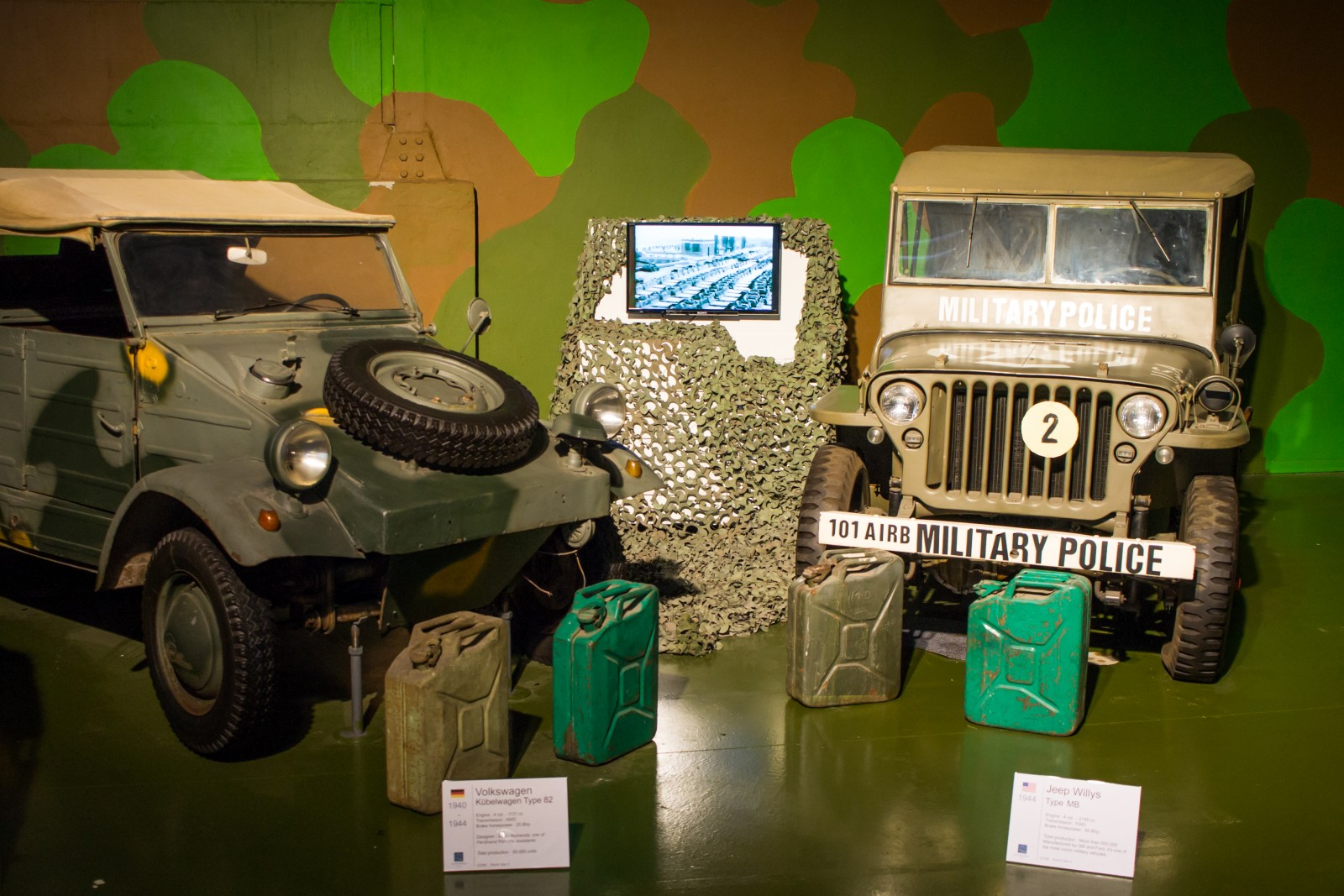 Jeep Willys and Volkswagen T82