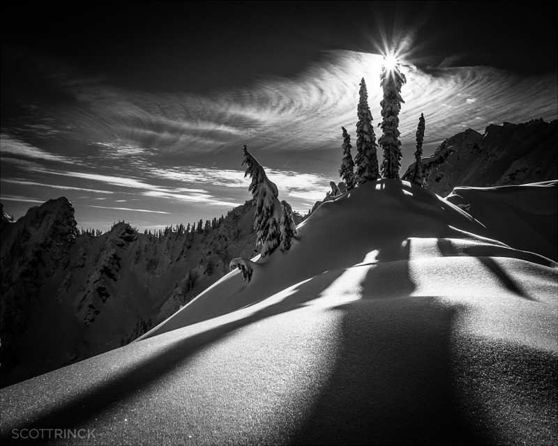 Incredible black and white mountain landscapes