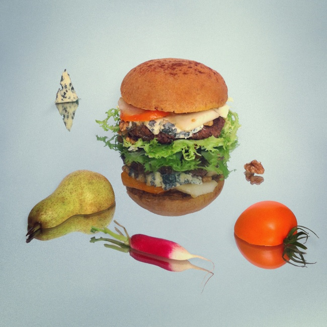 Burger in art