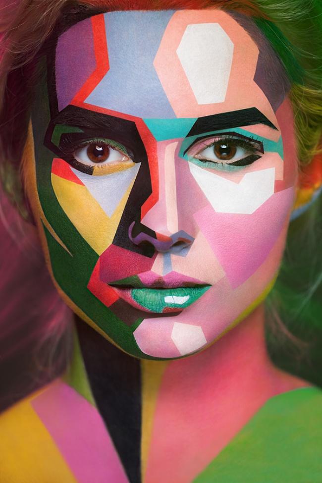 Optical illusions in body art