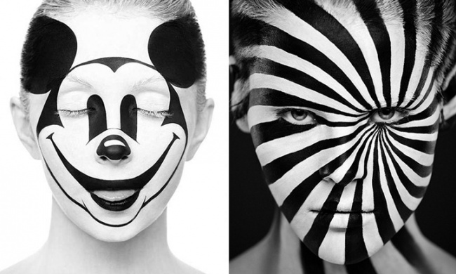 Optical illusions in body art