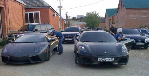 Ramzan Kadyrov car park
