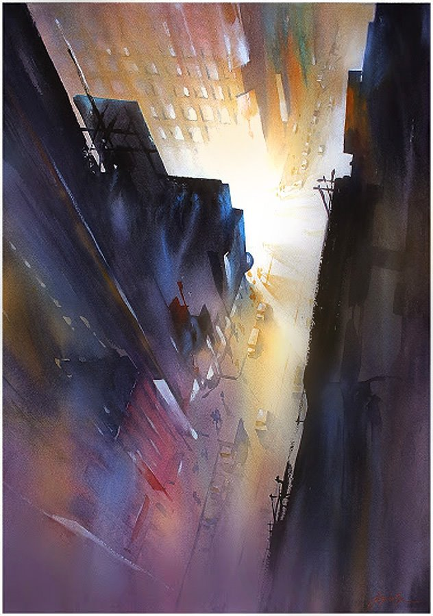 Amazing watercolor paintings by Thomas W. Schaller – Paradoxoff Planet