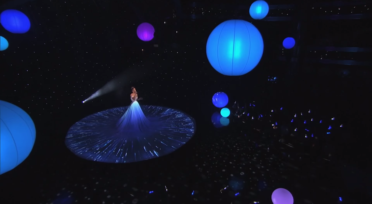 Amazing dress and song Feel the Light