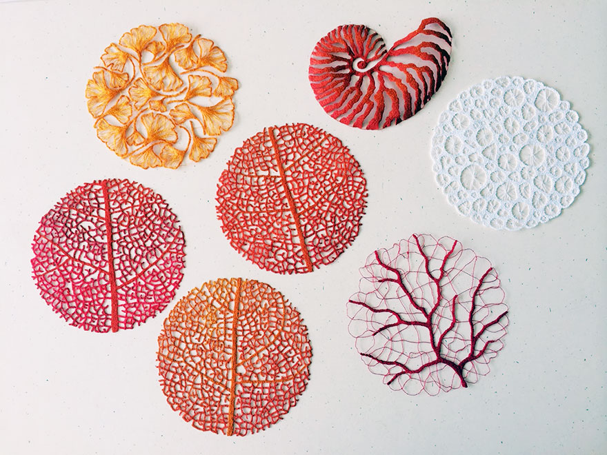 Amazing embroidered delicate forms of nature