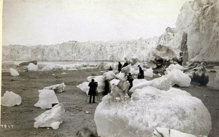 Muir Glacier, Glacier Bay Basin, Alaska. between 1880s-1890s