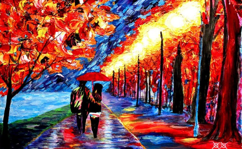 Paintings created by touch