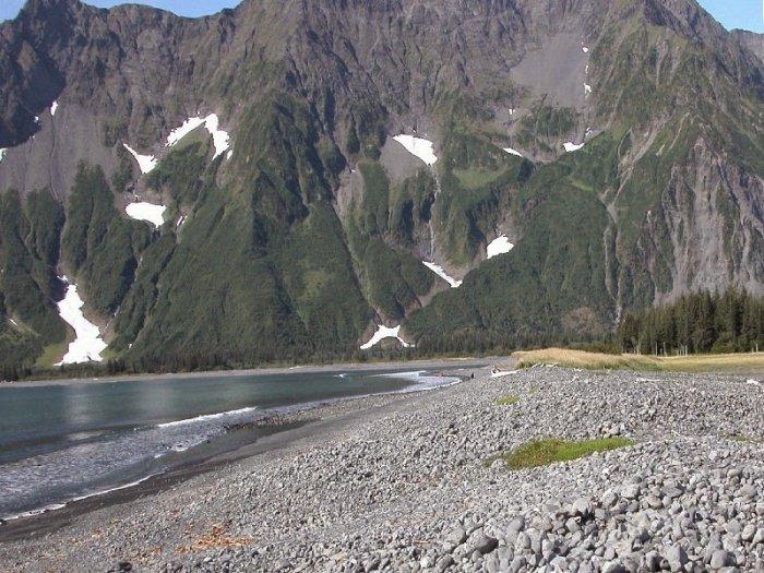 Pedersen Glacier, Alaska. 1906 - 2004.