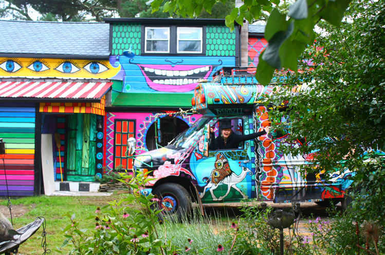 Psychedelic rainbow house
