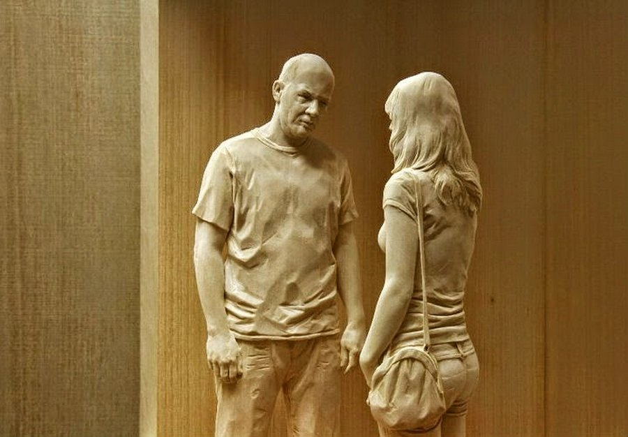 Realistic wooden sculptures