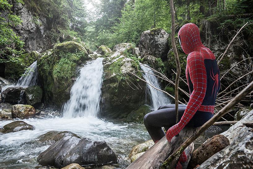 Superheroes relaxing