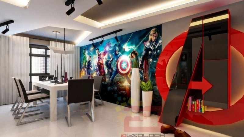 Avengers decorated house