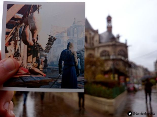Assassin's Creed Unity Paris Vs Real Paris
