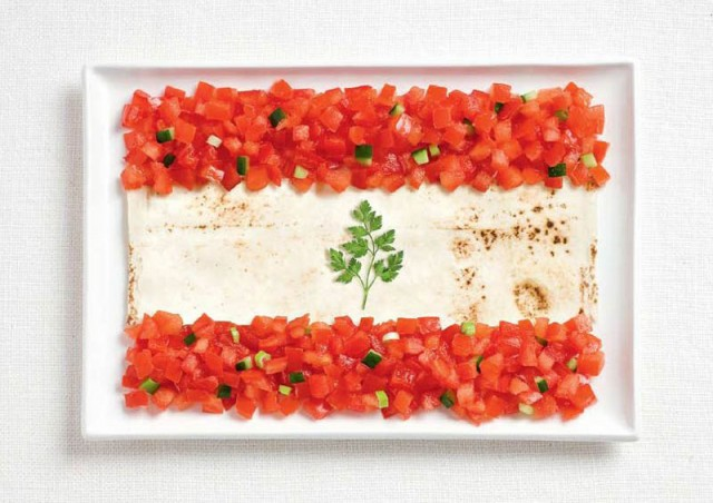 Edible flags