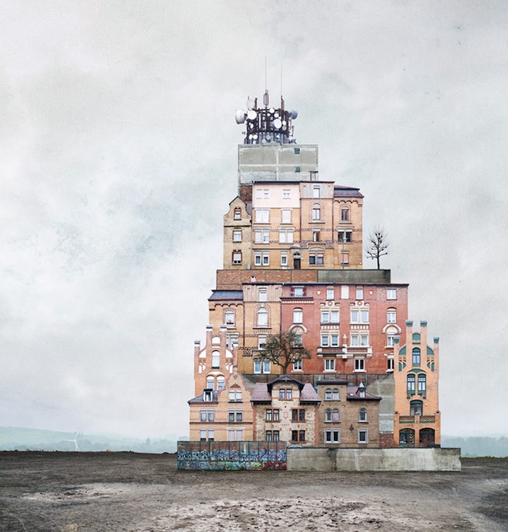 Fantastic Architectural Collages by Matthias Jung
