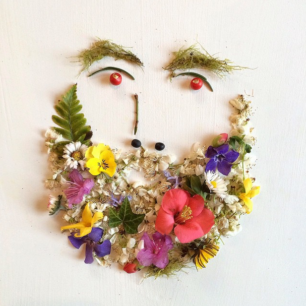 Colorful Collages with Flowers and Plants