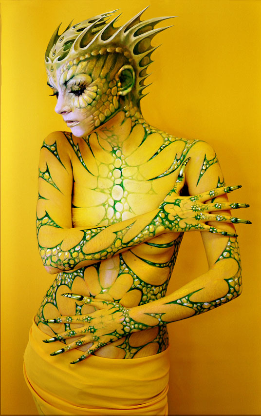 Most beautiful body painting