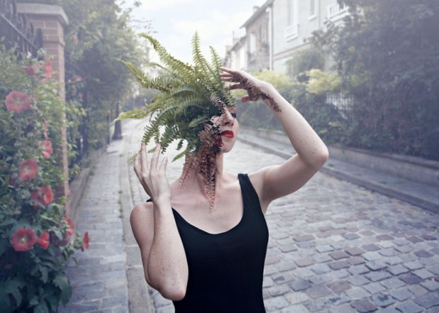 People with plants growing from their heads