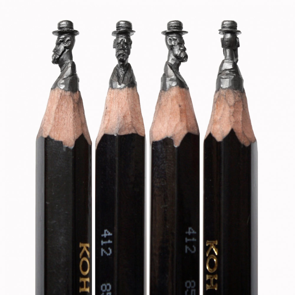 Amazing sculptures on the tip of a pencil