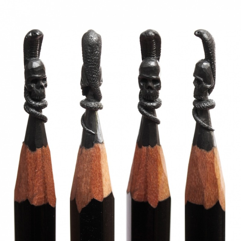 12 amazing sculptures on the tip of a pencil