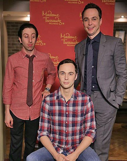 Wax figure of Jim Parsons