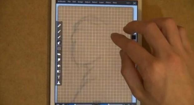 Amazing copy of drawings on iPad
