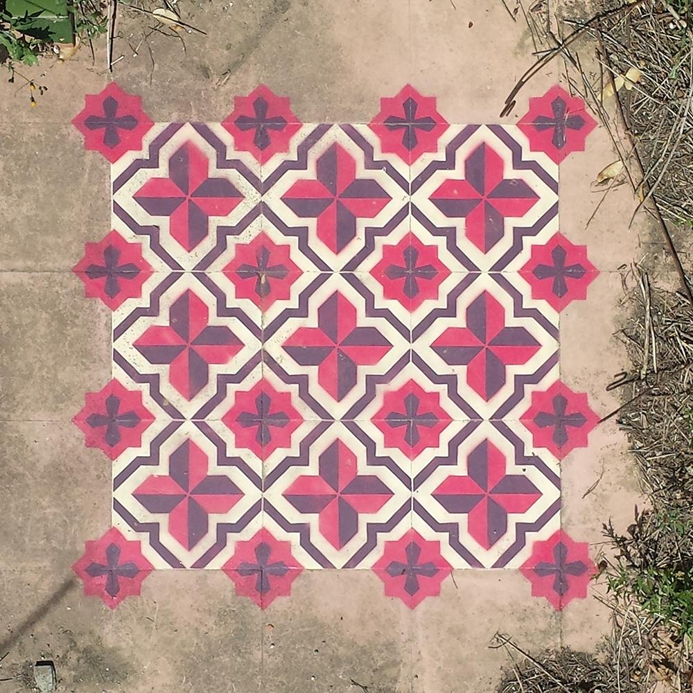 Javier De Riba's amazing floor patterns