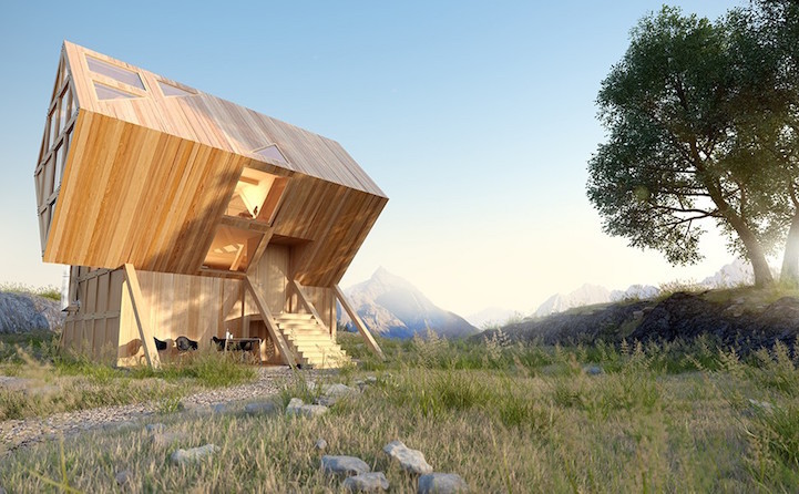 Asymmetric Valley House