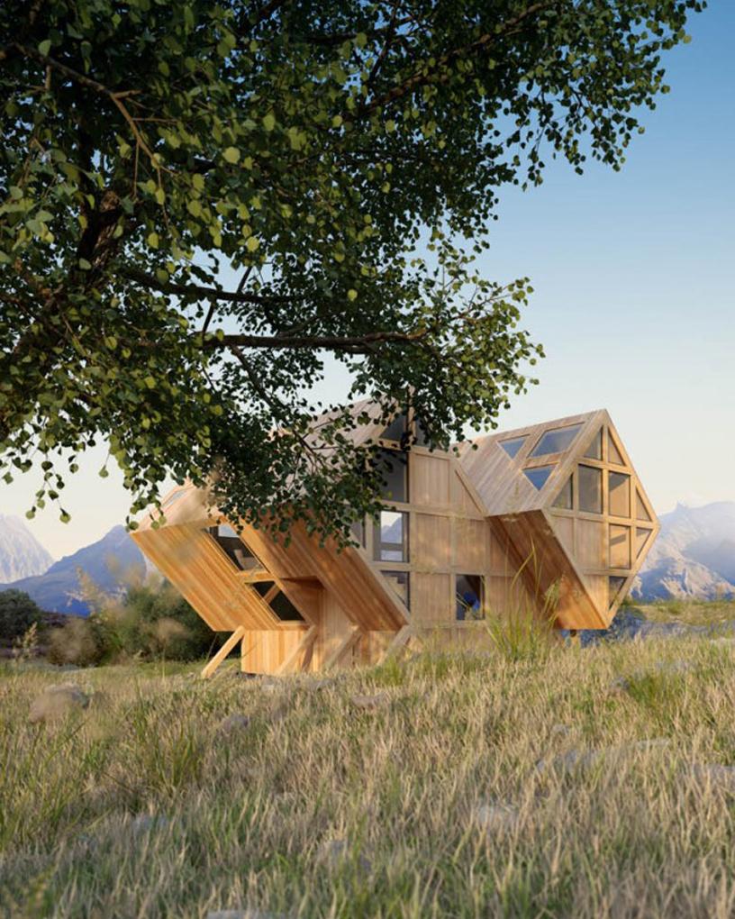 Asymmetric Valley House