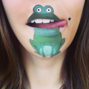 Cartoon lips by Laura Jenkinson