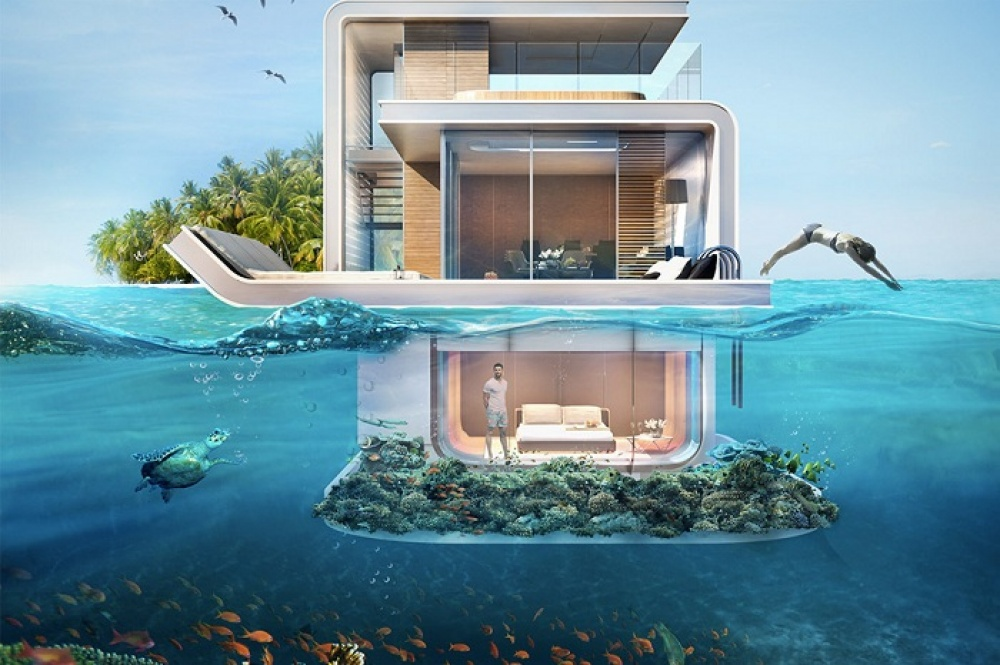 Floating villa in Dubai