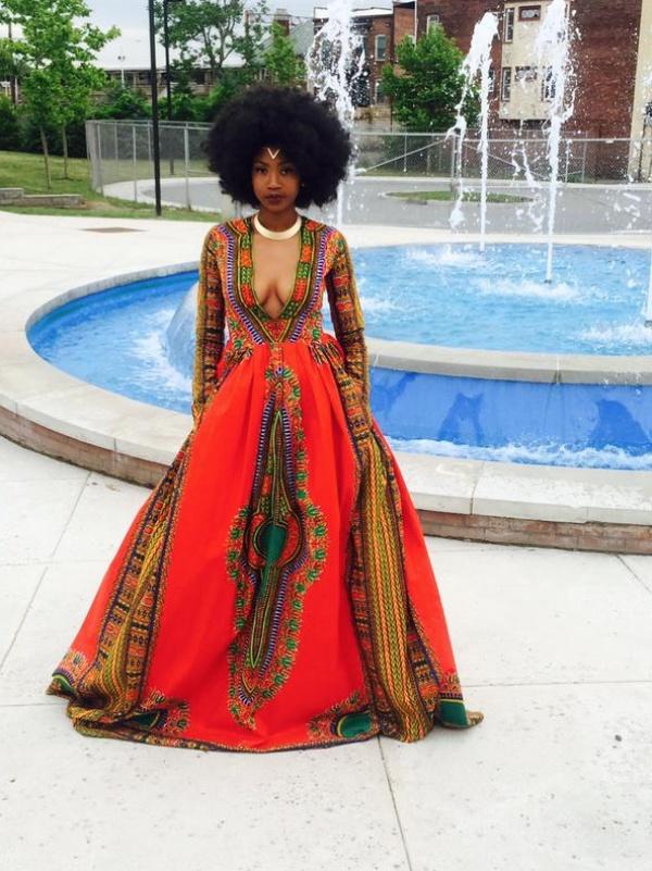 Girl sewed an incredibly beautiful dress